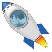 Astronaut in the rocket — Wektor stockowy