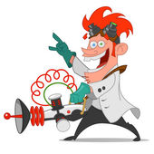 Mad scientist — Stock Vector