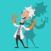 Crazy scientist — Stock Vector
