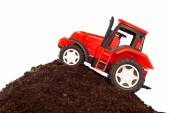 Toy tractor — Stock Photo