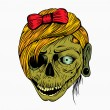 It is a girls head zombie. — Stock Vector #65490795