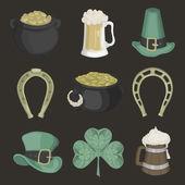 Set of illustrations for St. Patricks Day. — Wektor stockowy