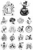 Set of eighteen illustration for St. Patricks Day. — Stock Vector