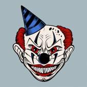 Illustartion of cartoon scary clown. — Stock Vector
