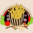 Illustration of fried fries. — Stock Vector #77220771