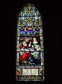 St. Andrew's Cathedral stained glass art — Stock Photo