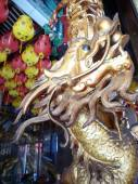 Chinese Dragon Carving Column — Stock Photo