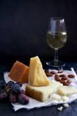 Cheese and wine tasting — Stock Photo
