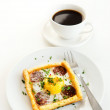 Tart and a strong black coffee — Stock Photo #64038223