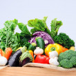 Crate of raw fresh vegetables — Stock Photo #64038245