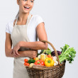 Smiling woman with fresh produce  — Stock Photo #64038365