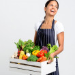 Chef with fresh  vegetables — Stock Photo #64038427