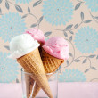 Ice cream cones in cup — Foto de Stock   #64038649