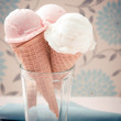 Ice cream cones in cup — Stockfoto #64038653