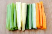 Raw vegetable sticks — Stock Photo