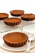 Rich decadent chocolate tarts — Stock Photo