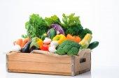 Variety of fresh colorful vegetables — ストック写真