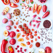 Red fresh produce vegetables and fruits — Stock Photo #65454939