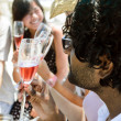 Friends toasting champagne sparkling wine — Stock Photo #65455365
