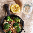 Healthy meal  in a pan — Stock Photo #65457023