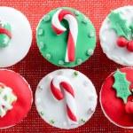 Christmas theme cupcakes — Stock Photo #65457125