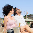 Couple enjoying themselves with champagne — Stock Photo #65457171