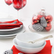 White and red christmas setting — Stock Photo #65457901
