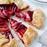 Sweet fruit tart plum galette pie — Stock Photo #65457957