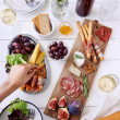 Gourmet cheese and meat platter for a party — Stock Photo #65458135
