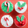 Christmas theme cupcakes — Stock Photo #65458355