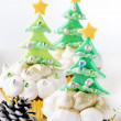 Christmas tree cupcakes — Stock Photo #65458595