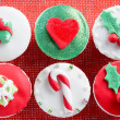 Christmas theme cupcakes — Stock Photo #65458907