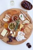 Cheese platter for two — Stock Photo