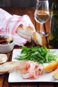 Antipasto platter for two — Stock Photo