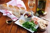 Italian antipasto platter — Stock Photo