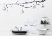 Silver xmas decorations — Stock Photo
