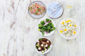 Different types of salads for summer entertaining  — Stock Photo