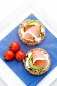 Crostini starter with ham — Foto Stock