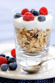 Appetising breakfast parfait — Stock Photo