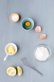Baking raw ingredients — Stock Photo