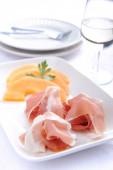 Serving of italian antipasto — Stock Photo