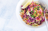 Fresh coleslaw salad for summer  — Stock Photo