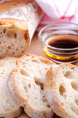 Bread with olive oil  — Stock Photo