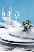 Catering formal place setting — Stock Photo