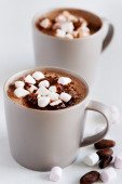 Mugs of hot chocolate — Stock Photo