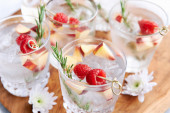 Filled with fruity flavour -Cocktails — Stock Photo