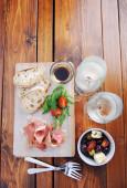 Serving of traditionally italian antipasto — Stock Photo