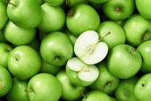 Granny smith apple background — Stock Photo