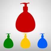 Plastic Bottle silhuette — Stock Vector