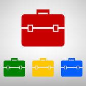 Briefcase icon  set — Stock Vector